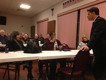New York State Senator George Amedore, Jr. -   R,C,IP  46th Senate District was our guest at the Wednesday January 6, 2016 monthly meeting.
