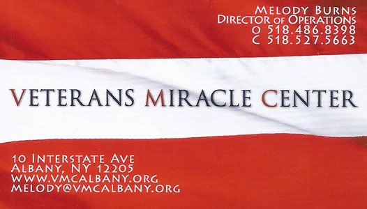The Veterans Miracle Center VMC Albany NY Melody Burns Director of Operations