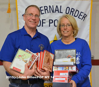 FOP Member and Radio Personality Melody Burns led our Lodge in gathering and preparing cards for the Troops in 2015 and again this year at the November 2, 2016 meeting.